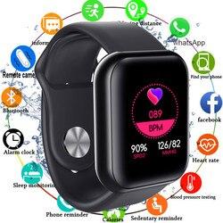 Smart Watch Men Women Blood Pressure Monitor Smartwatch Heart Rate Oxygen Tracker Multi-sport Modes 1.3'' Screen Square Watch