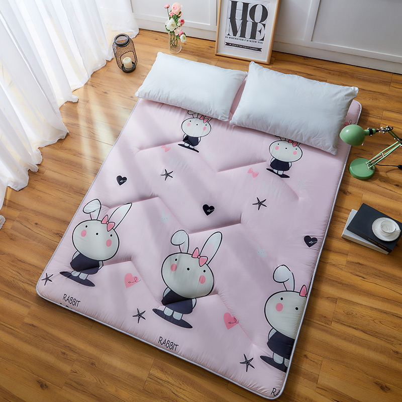 Cute Rabbit Cat Mattress Animal Printed Tatami Mat Anti-skid Thickening Mattress Bedroom Furniture Student Dormitory Bed Mat