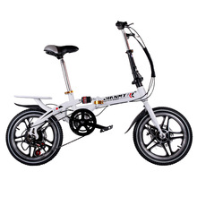 Folding Bicycle Kids Bike Ultra-Lightweight Children Variable-Speed Dual-Brake 14-Or-16inch-Fold