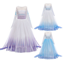 Girls Dresses For Snow Queen Dress Children Ball Gown Ice 2 Princess Cosplay Halloween Costumes Girl Birthday Party