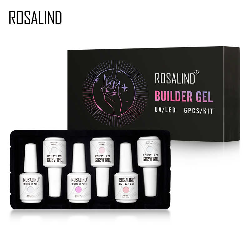 ROSALIND Builder Gel Set Nagellak Clear Nail Gel Vernissen Voor Nail Art Ontworpen losweken Semi Permanente UV Lamp top Base Gel