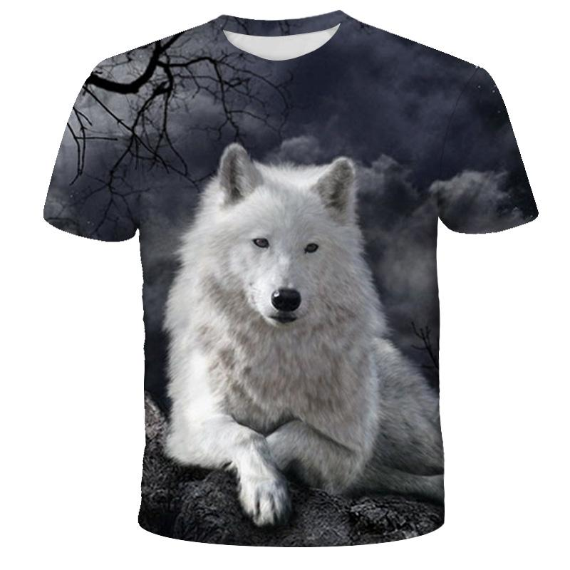 Lovers Wolf Printed T shirts Men 3d T-shirts Drop Ship Top Tee Short Sleeve Camiseta Round Neck Tshirt Fashion Casual Brand 2