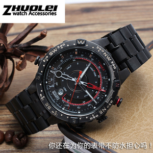Image 4 - Rvs horlogeband voor heren TIMEX T2N720 T2N721 TW2R55500 T2N721 horloge band 24*16mm lug end zilver zwarte armband