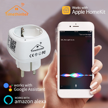 2.4GHz Smart WiFi Socket for Apple Homekit US EU Plug Alexa Google Home Siri Voice Control No Need Hub