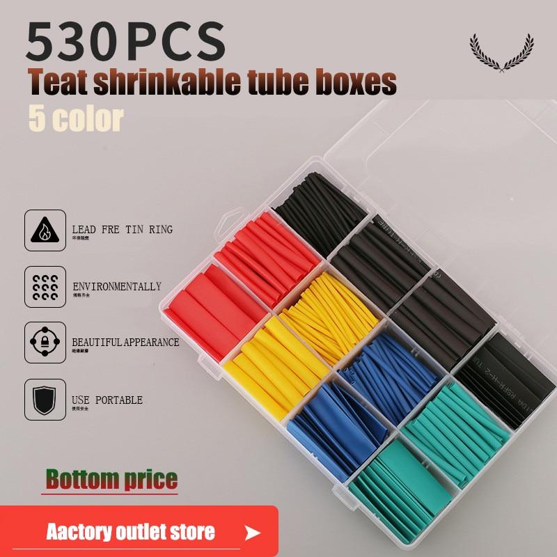 127Pcs Adhesive Lined Heat Shrink Sleeving 2:1 Weatherproof Heatshrink Tubin