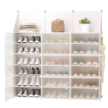Cremalheira de sapato multi-camada simples doméstico econômico prateleira dormitório porta rack de armazenamento de montagem de plástico sapato armário