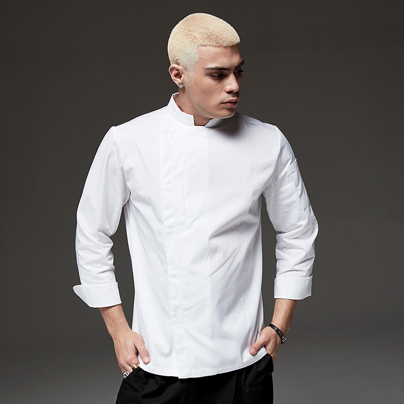 High Quality Chef Jacket Long Sleeve Unisex Kitchen Cooking Uniform Restaurant Cafe Bakery Shop Barber Shop Waiter Work Shirt