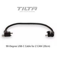 Tilta 90 Grau 20cm USB C Cabo para Tiltaing Z CAM Camera Gaiola