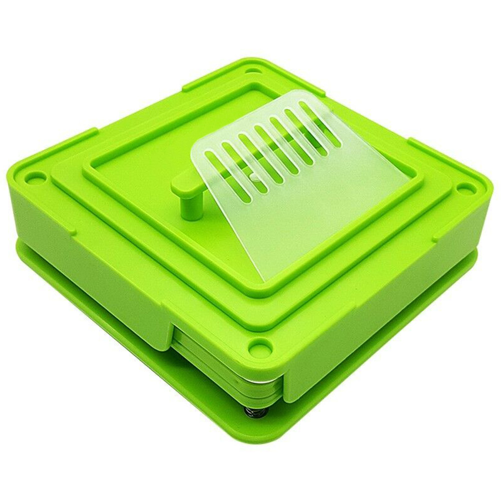 Holder Encapsulator Capsule Filling Machine Durable Manual ABS With Tamper Board Size 0 Green Flate Tool Dispensers 100 Holes