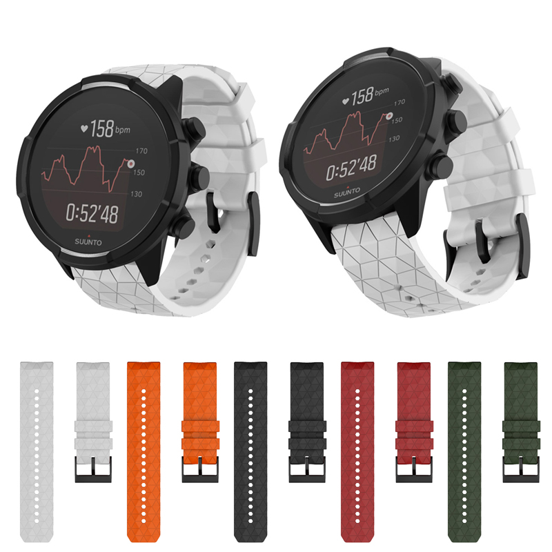 Watchband Smart Watch Band Strap Silicone Replacement for Suunto 9 Baro Copper @JH