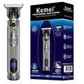 Профессиональный мужской триммер Kemei, электрическая машинка для стрижки бороды, машинка для стрижки волос, переработанная машинка для стри...