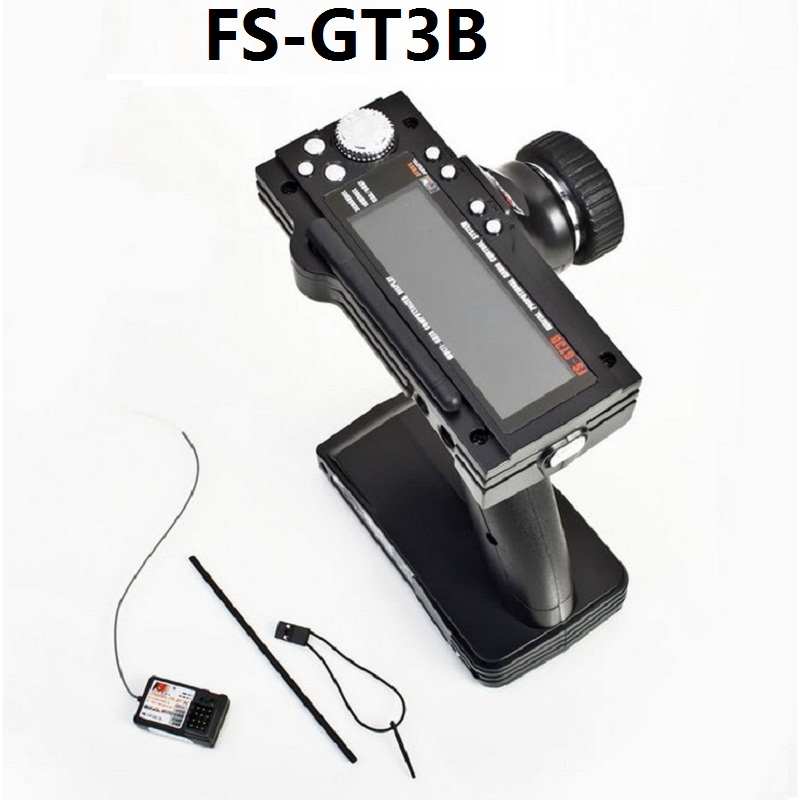 FlySky GT3B FS-GT3B 2 4G 3CH transmitter RC System Gun Controller with FS GR3E Receiver For RC Car Boat with LED Screen