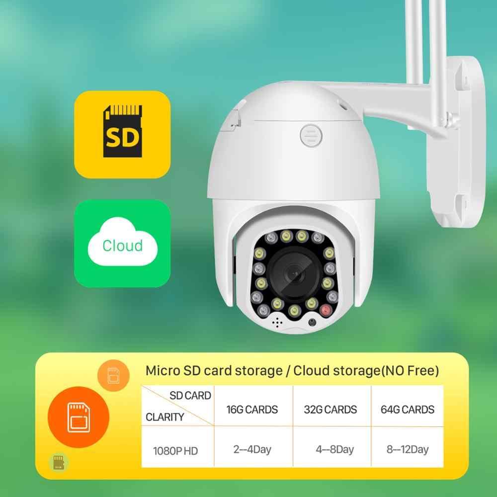 Besder 1080P Ptz Twee-Weg Audio Wifi Camera 4x Digitale Zoom Kleur/Ir Nachtzicht Auto Tracking waterdichte Ip Camera Sirene Licht