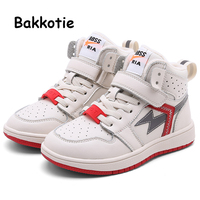 Bakkotie 2019 New Boys Winter High Sneakers Kids Fashion Warm Soft Sports Shoes Children Girls Red Non slip Fur Casual Shoes