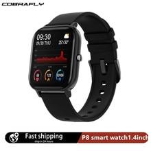 Cobrafly p8 relógio inteligente das mulheres dos homens 1.4 polegada de toque completo fitness rastreador monitoramento freqüência cardíaca esportes relógios gts para xiaomi huawei
