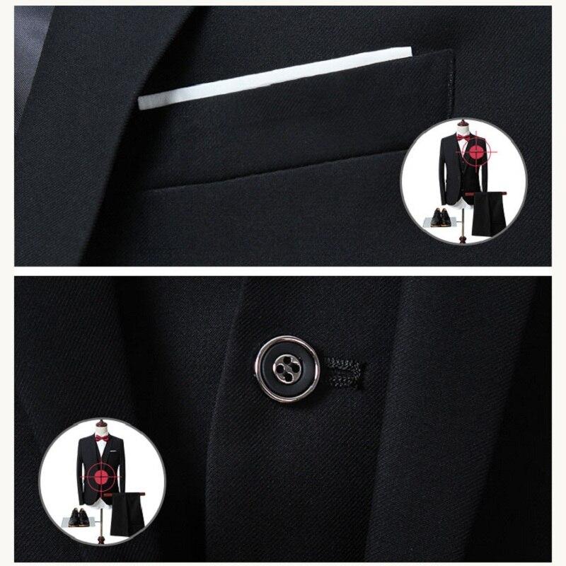 Top SaleMen's Suits Blazers Wedding-Regular Business Party Boutique Formal Large-Size 3piece-Set