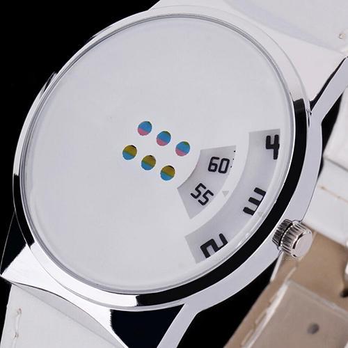 Women Men Couple Watch Digital Watch Clock Men Fashion Leather Strap Colorful Moveable Dial Digital Wrist Watch Gift парные часы
