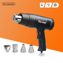 Power-Tool Heat-Gun Electric Industrial 2-Temperatures 2000W with Four-Nozzle-Attachment