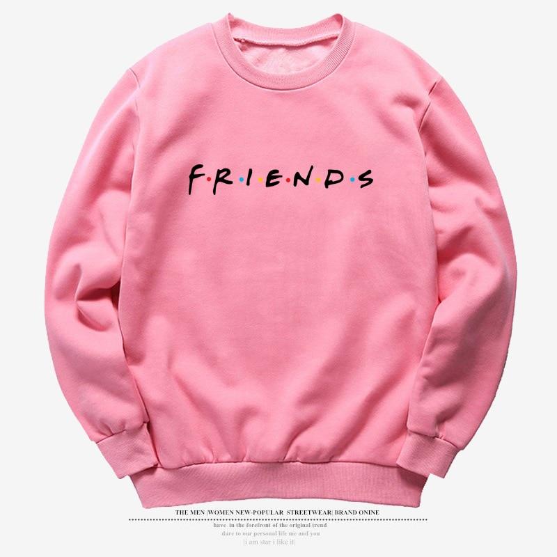 Vintage Letter Print Long Sleeve FRIENDS TV Casual Women's Sweatshirts Winter FRIENDS Print Loose Hoodies Fashion Womens Shirts 5