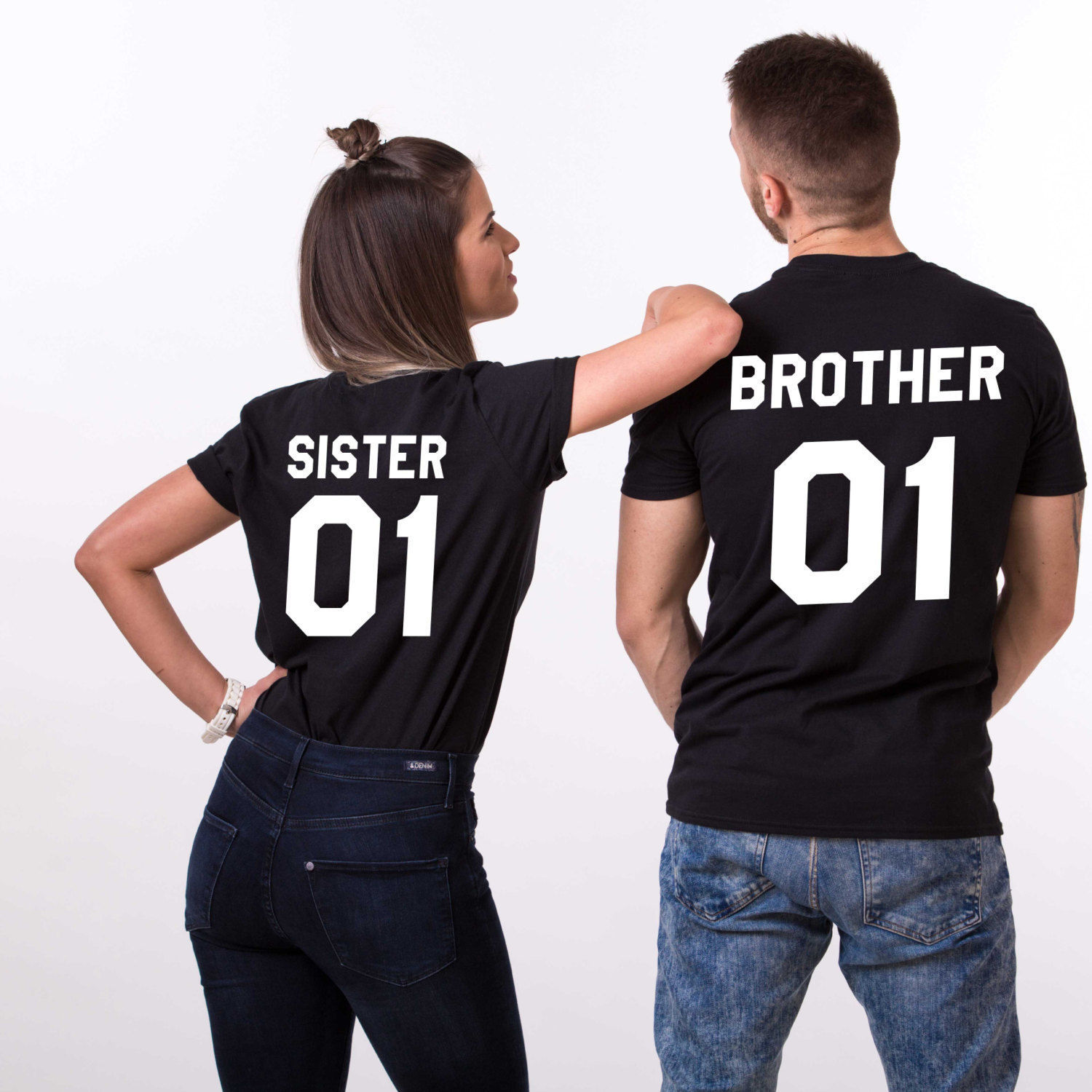 Brother Sister Letter Print   T     Shirt   Women Short Sleeve O Neck Loose Tshirt 2019 Summer Fashion Women Tee   Shirt   Tops