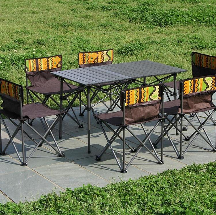 Outdoor Folding Camping Table Chair Aluminium Alloy Picnic Table Ultra-light Durable раскладной стол Folding Table Chair Furnitu
