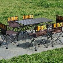 Outdoor Folding Camping Table Chair set Aluminium Alloy Picnic Table Ultra-light Durable раскладной стол Folding Table Chair
