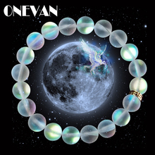 Mermaid Glass Crystal Moonstone Bracelets Multicolor Matte S