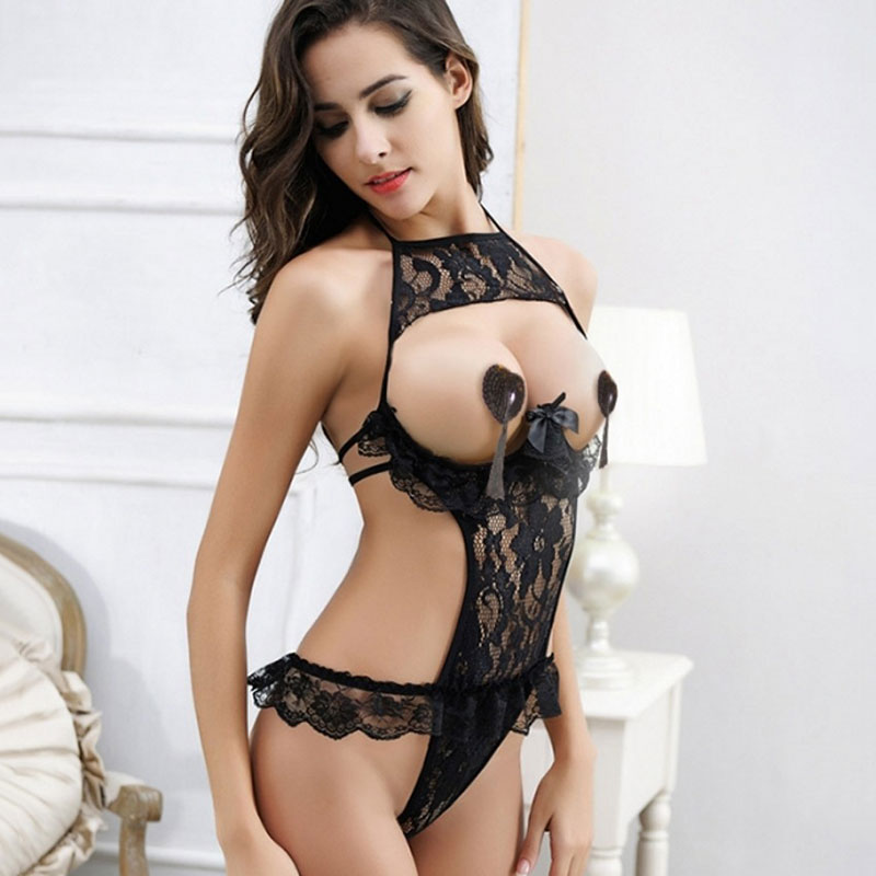 Erotic Lingerie For Women Sex Underwear Porn Babydoll Dress Hot Lace Open Bra Open Crotch Sexy Lingerie Costume Nuisette Sexy-20