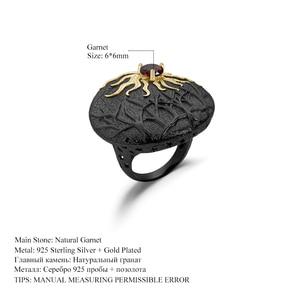 Image 5 - GEMS BALLET Natural gema de granate roja anillo 925 plata esterlina hecho a mano Sun Chaser Story anillos para las mujeres joyería fina