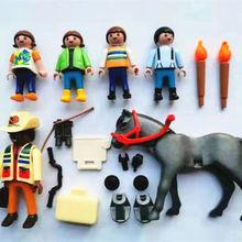 6PCS Playmobil Reporter Horse Child Animal loose Figure P4B