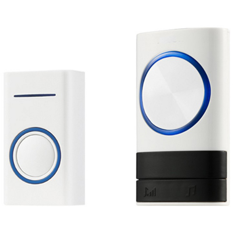 FFYY-Eu Plug Wireless Music Led Doorbell Outdoor Transmitter Indoor Receiver 200M Remote Control Timbres Wireless For Home