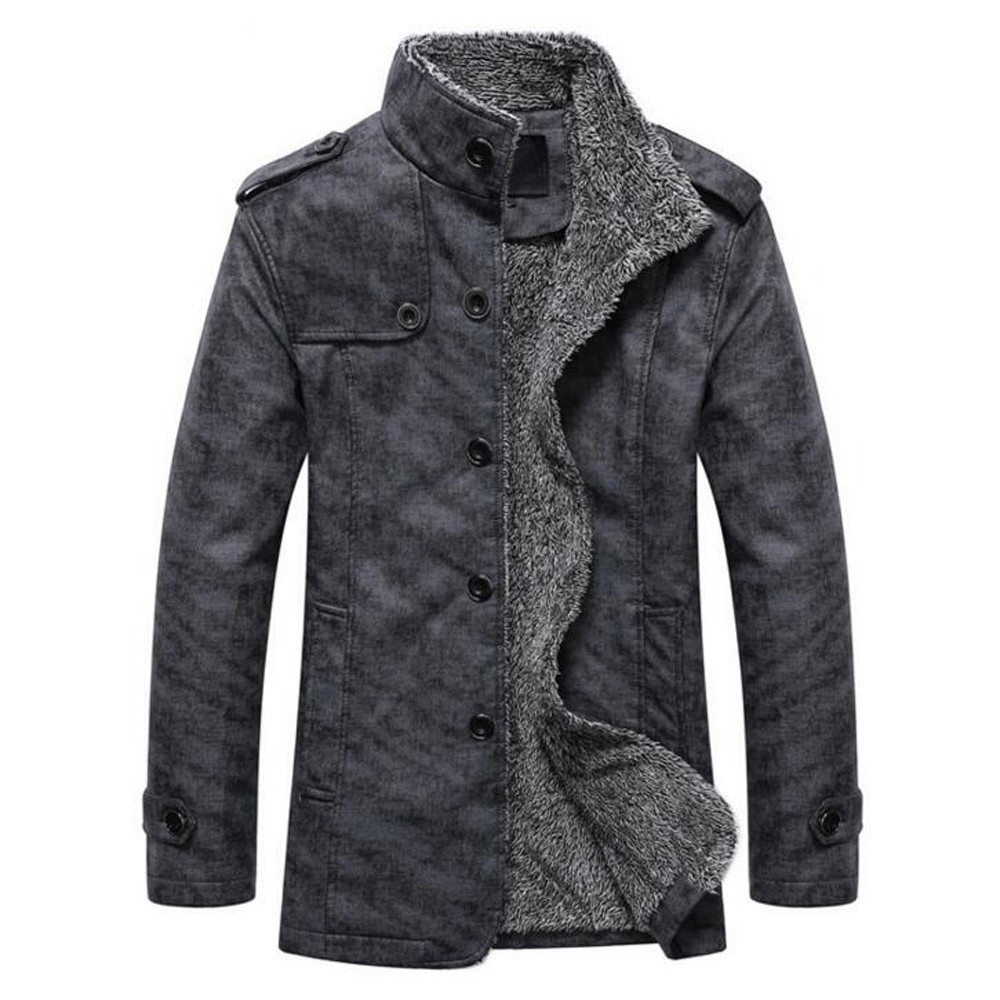 H891e56ebf0a34f9cae85494554724ee1V Fashion Men's Leather Jacket Top Coat Warm Autumn Winter Casual Pocket Button Thermal Outwear Jumper For Male Men