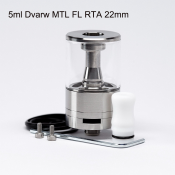 цена на Dvarw MTL FL RTA Atomizer single coil Airflow Rebuildable 316ss 22mm Electronic cigarette atomizer vs dvarw mtl rta
