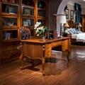Роскошный набор мебели для кабинета  Набор стульев и деревянных книжных шкафов WA699
