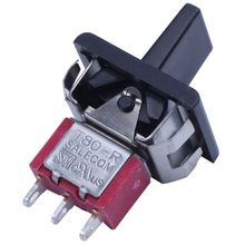 AC 250V/3A 125V/5A Momentary SPDT 3 Positions Toggle Switch T80-R 5 pcs ac 3a 250v 6a 125v on on spdt mini 2 position latching toggle switch