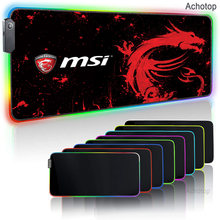 MSI Alfombrilla Raton RGB Mousepad XXL Keyboard Gaming Red Dragon Desk Mat Tapis Souris Gamer Mouse Pad RGB Muismat Locking Edge