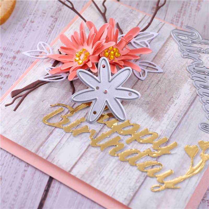 YaMinSanNiO list z okazji urodzin metalu wykrojniki dla tworzenie kartek Scrapbooking umiera tłoczenie cięcia wzornik Craft 2020 umiera