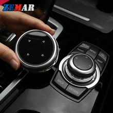 Car Multimedia Buttons Cover iDrive Stickers for BMW E90 E91 E92 E93 F34 E60 E61 Z4 F31 F30 F10 X5 E70 F25 F01 F02 M Accessories