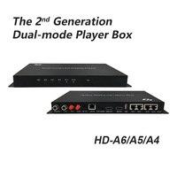 Huidu-REPRODUCTOR DE pantalla led A4 HD-A6, vídeo en color, controlador de vídeo led de modo dual, 4 en 1, HD-A4