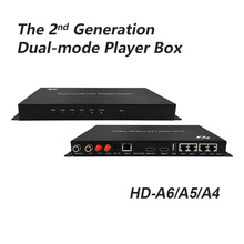 Huidu HD-A6 HD A4 full color video led display player box work with wifi usb hdmi dual-mode led video controller 4 in 1 player