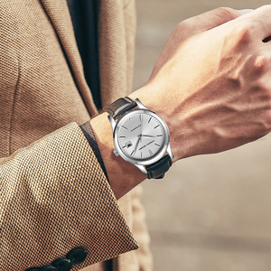 Image 2 - 2019 new Ultra thin simple classic men mechanical watches business waterproof watch luxury brand genuine leather automatic watch