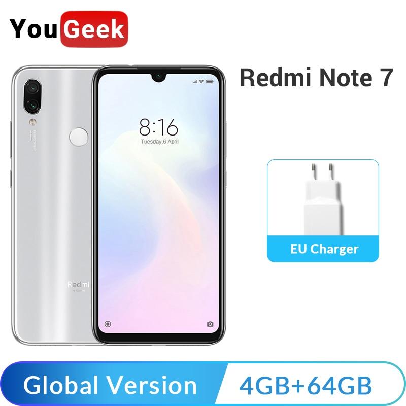 Global Version New Xiaomi Redmi Note 7 Note7 4GB 64GB Snapdragon 660 4000mAh 48MP Dual Cameras 6.3
