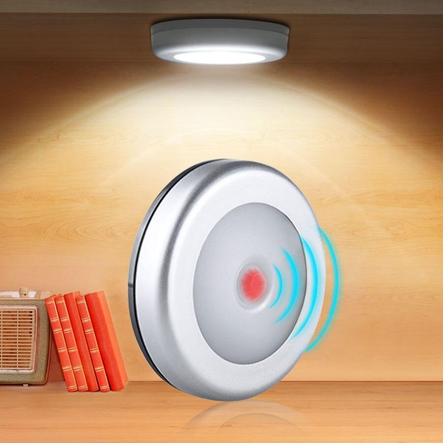 Détecteur de mouvement PIR (PIR), lumière intelligente LED lumières sous larmoire, lampe de nuit automatique, pour chambre à coucher, placard, cuisine