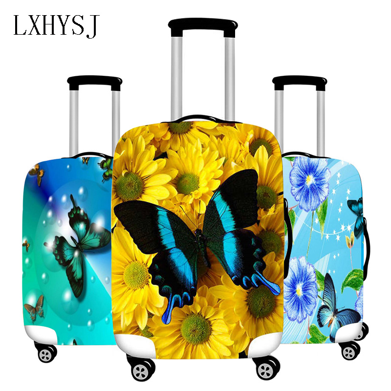 Butterfly Print Elasticity Luggage Protective Covers For 18-32 Inches Luggage Cover Suitcase Case Travel Accessories HW583