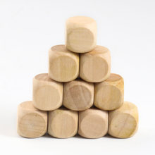 Деревянные игральные кости 10 шт 20 мм 6 сторонние деревянные