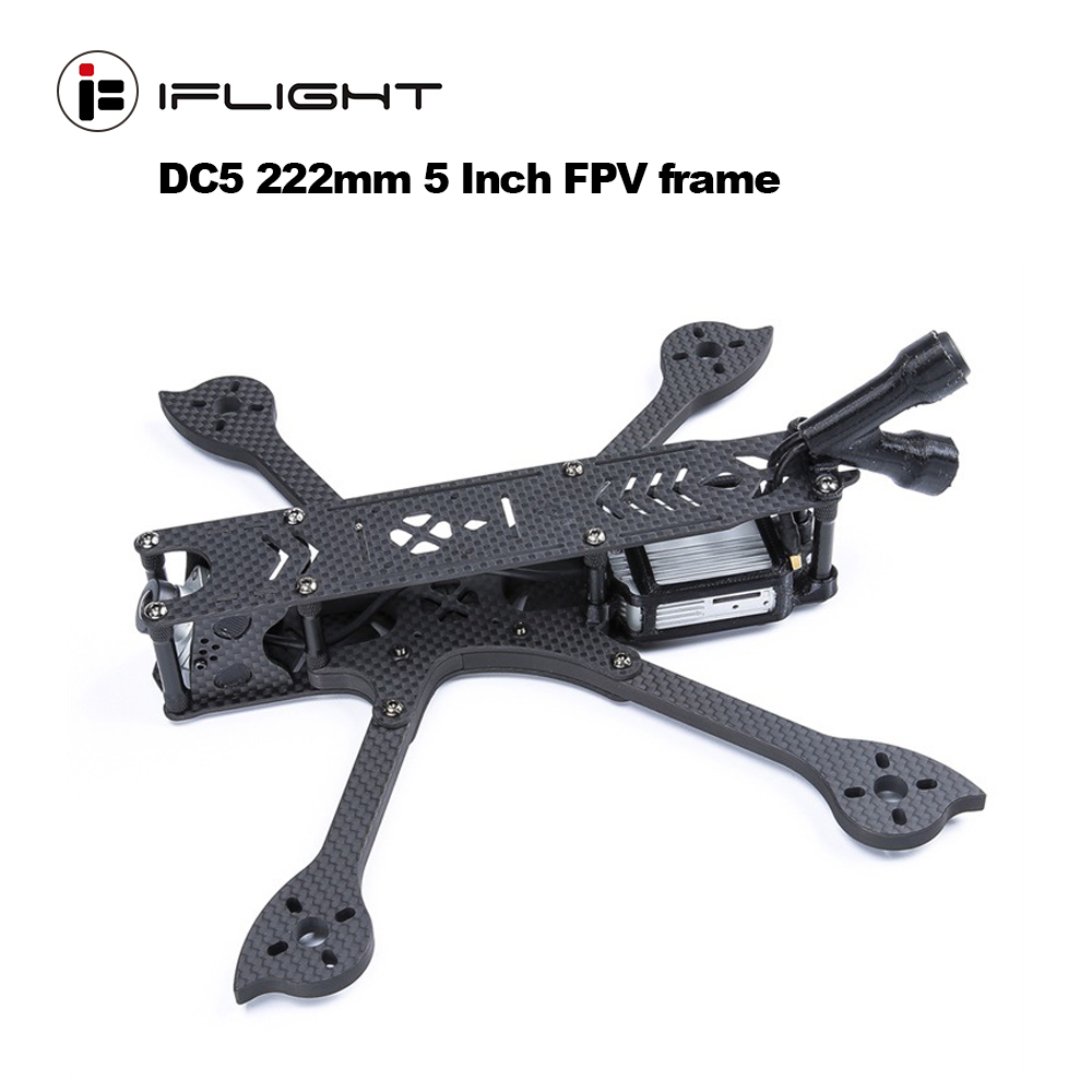 IFlight DC5 222mm 5 Inch FPV frame Carbon fiber Freestyle for DJI air unit system with antenna support Laser Base HD