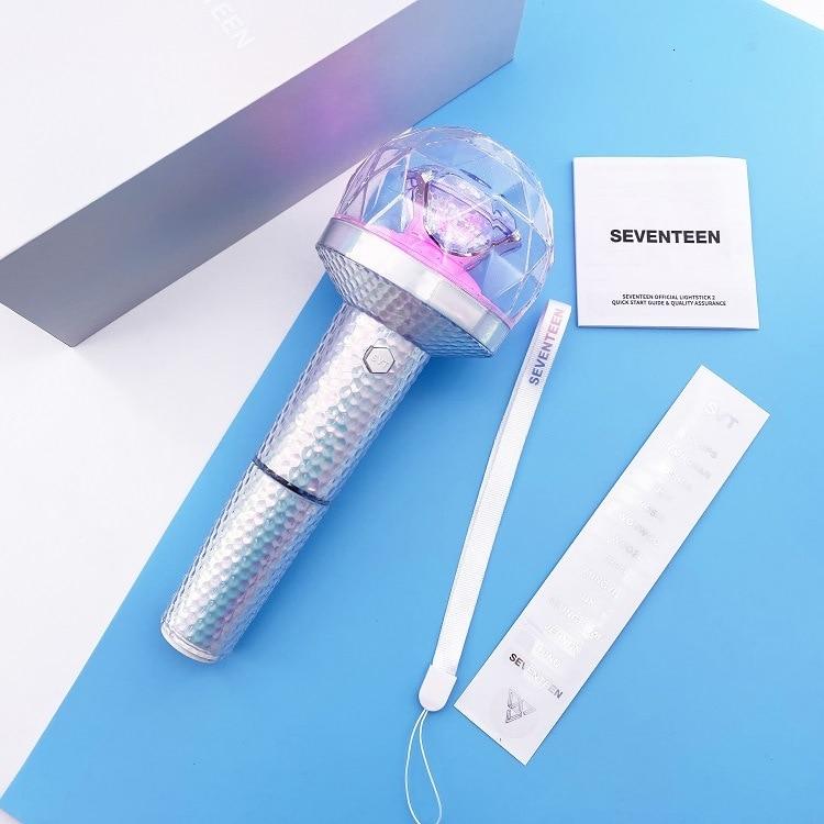 KPOP SEVENTEEN Official CARAT BONG Lightstick Album Concerts Glow Lamp Lightstick VER.2 With Bluetooth Light Stick