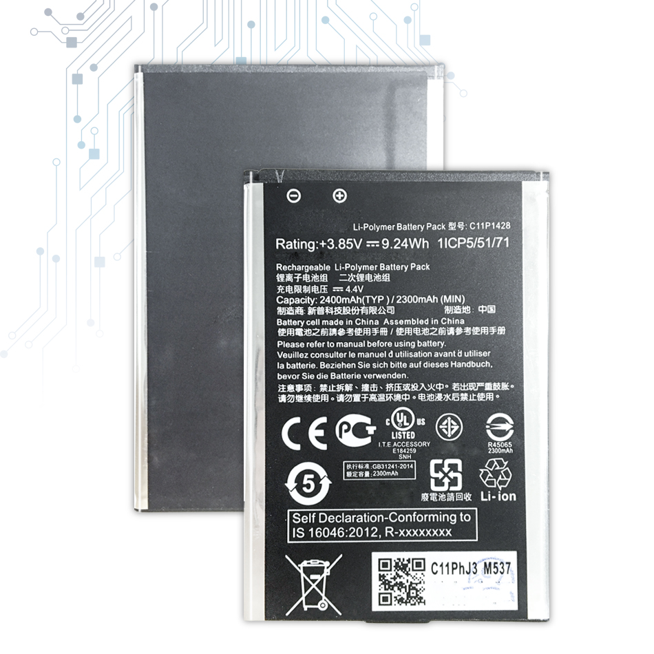 C11P1428 Replacement <font><b>Battery</b></font> <font><b>For</b></font> <font><b>Asus</b></font> <font><b>Zenfone</b></font> <font><b>2</b></font> <font><b>Laser</b></font> <font><b>ZE500KL</b></font> ZE500KG <font><b>Battery</b></font> C11P1428 2000mAh with Track Code image