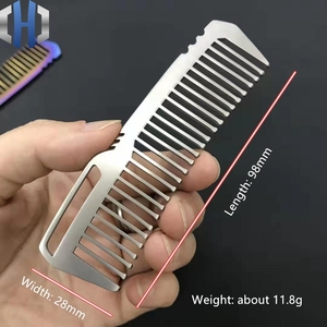 Image 2 - Titanium Comb For Men And Women Comb Hair Cutting Comb EDC