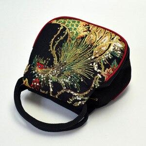 Image 2 - ร้อนขายชาติพันธุ์เย็บปักถักร้อยกระเป๋าปักปักนกยูง MINI กระเป๋าถือผู้หญิงจัดส่งฟรีกระเป๋าถือ